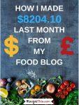 Food Blogging Traffic & Income Report – February 2018