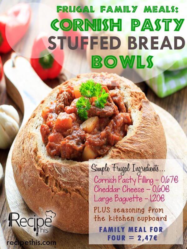 """""""budget cornish stuffed bread"""""""