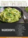Hausmann Pasta Pot Creamy Green Sauce Tagliatelle
