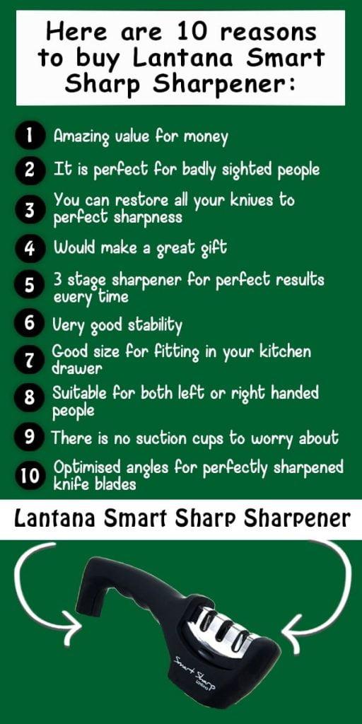 Here are ten reasons to buy the Lantana Smart Sharp Sharpener