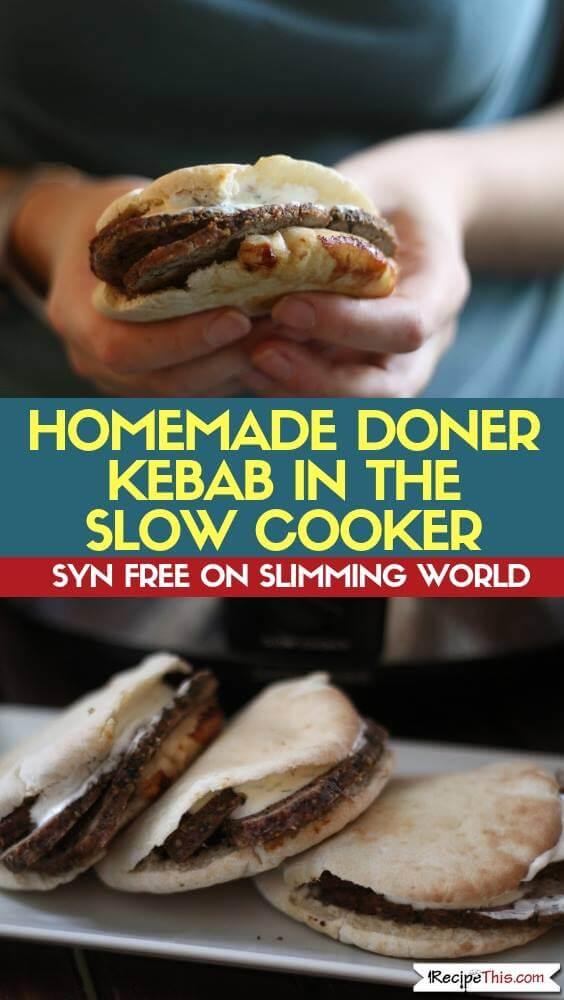 Slimming World Homemade Doner Kebab In The Slow Cooker