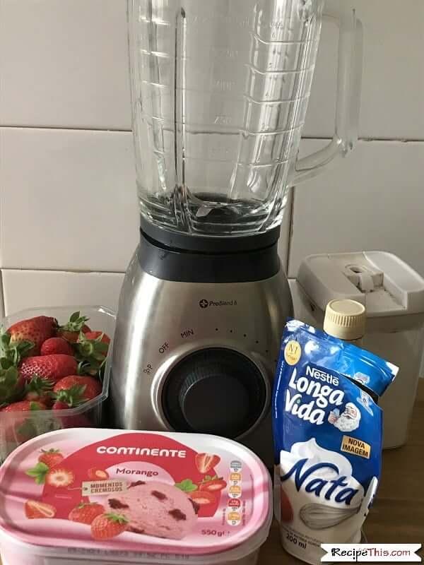 Homemade McDonalds Strawberry Milkshake Ingredients
