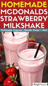 Homemade McDonalds Strawberry Milkshake