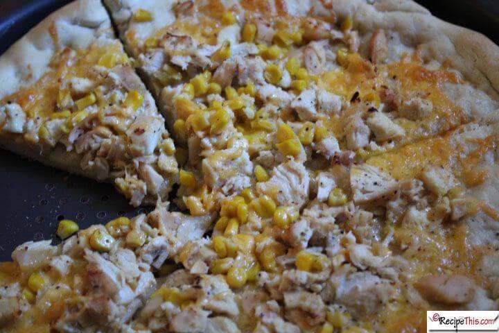Bread Maker Chicken & Sweetcorn Pizza