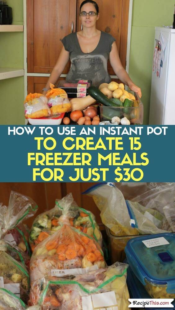 How To Use An Instant Pot To Create 15 Freezer Meals for Just $30