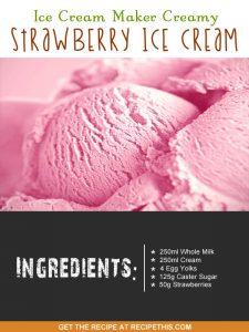 """""""strawberry ice cream ingredients"""""""