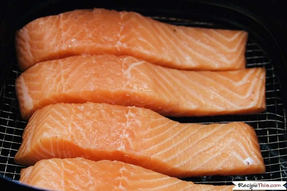 Ikea Lemon Dill Salmon In The Air Fryer raw salmon