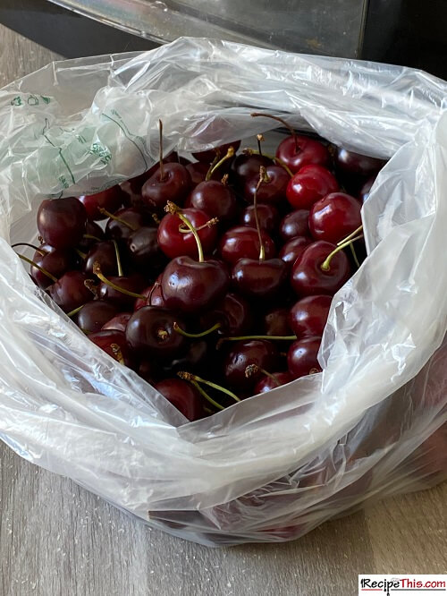 Ingredients For Dehydrated Cherries