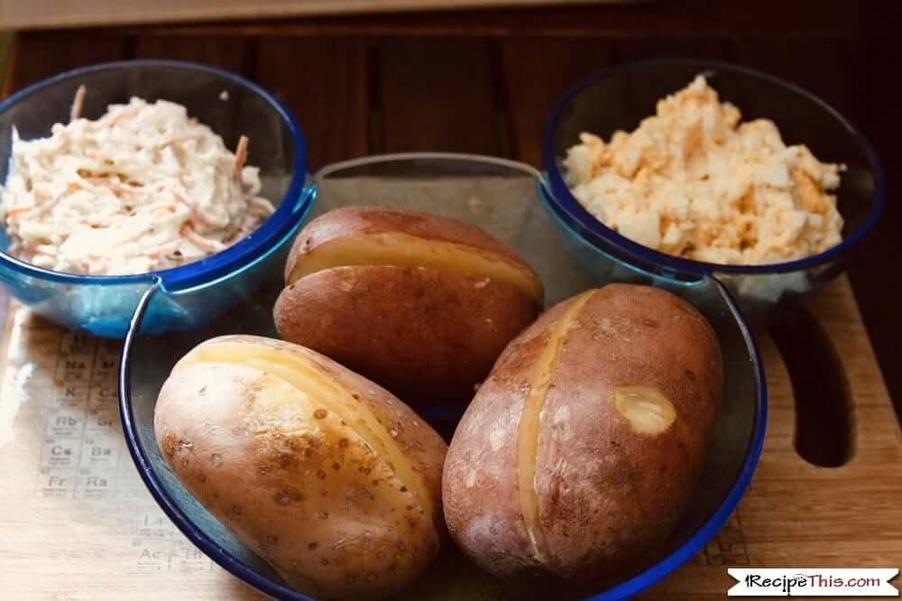 Instant Pot Baked Potatoes kids mini baked potato bar