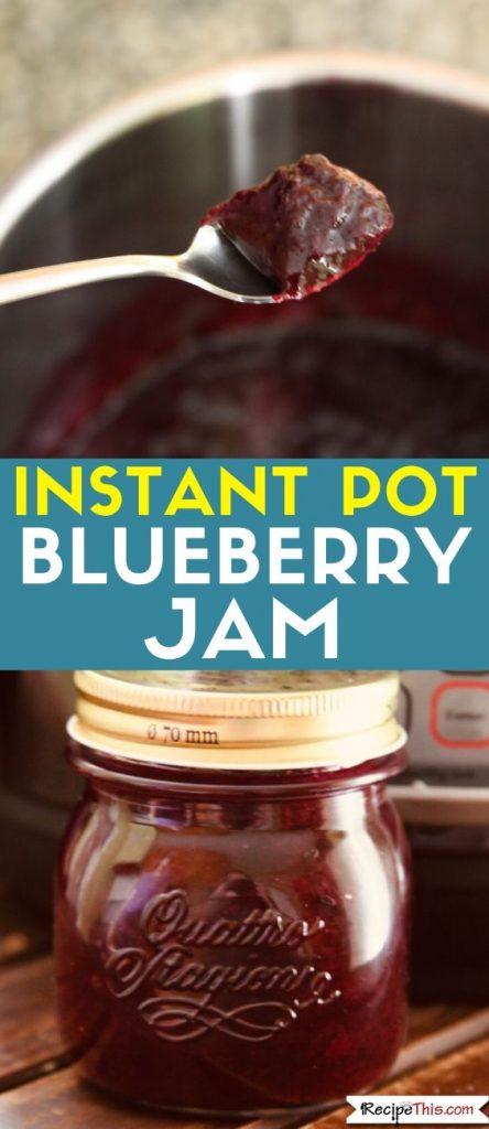 Instant Pot Blueberry Jam recipe
