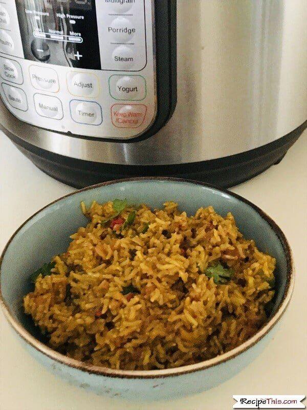 Instant Pot Brown Rice Pilaf