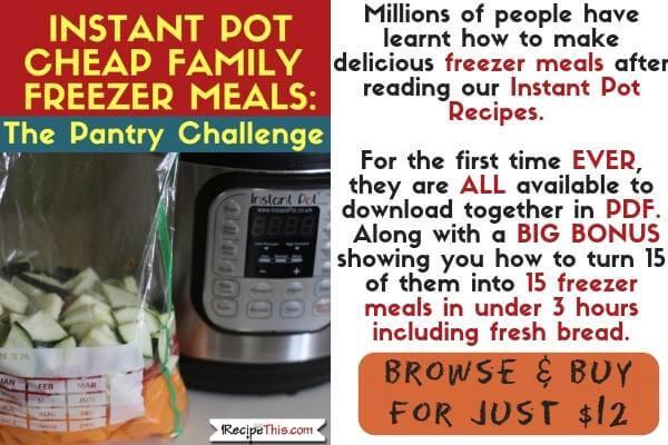 Instant Pot Cheap Family Freezer Meals Buy It Now