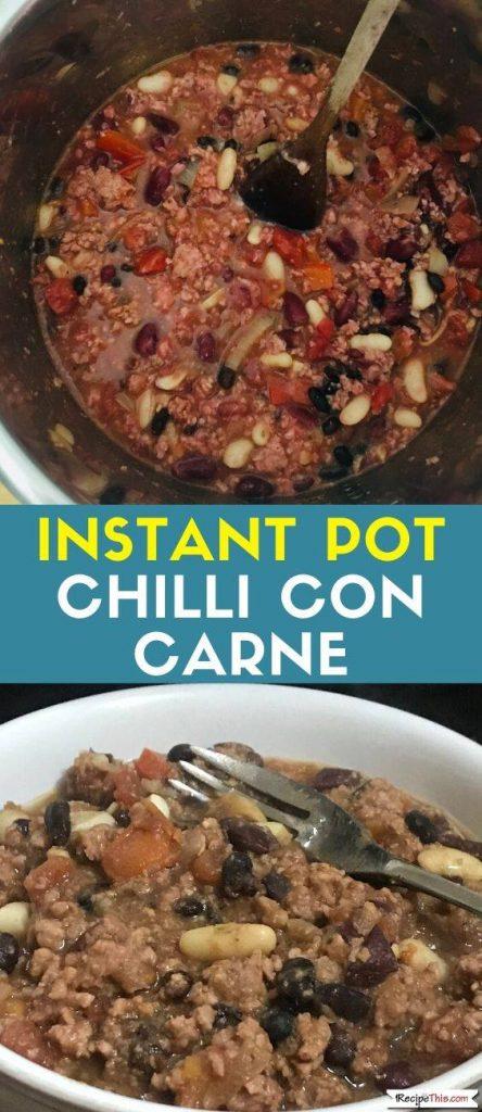 Instant Pot Chilli Con Carne recipe