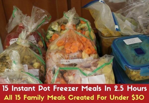 Instant Pot Freezer Meals - Big Batch From Pantry Staples