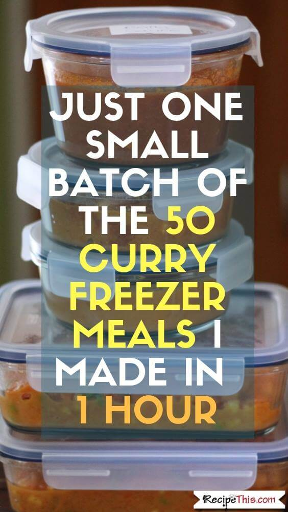 Instant Pot Freezer Meals - Healthy Curry Batch