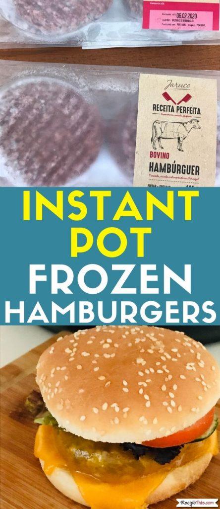 Instant Pot Frozen Hamburger recipe