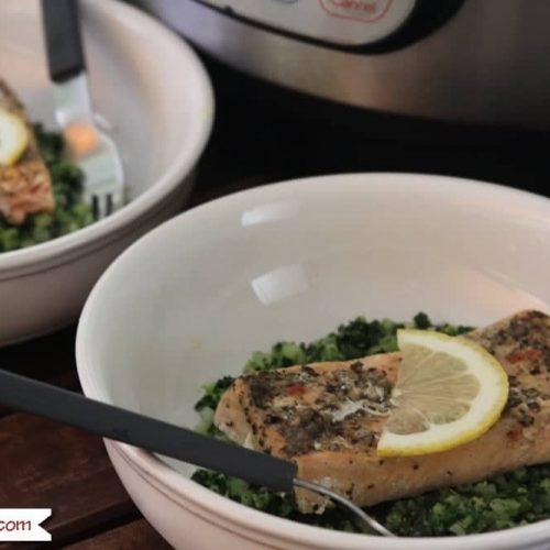 Instant Pot Frozen Lemon Pepper Salmon