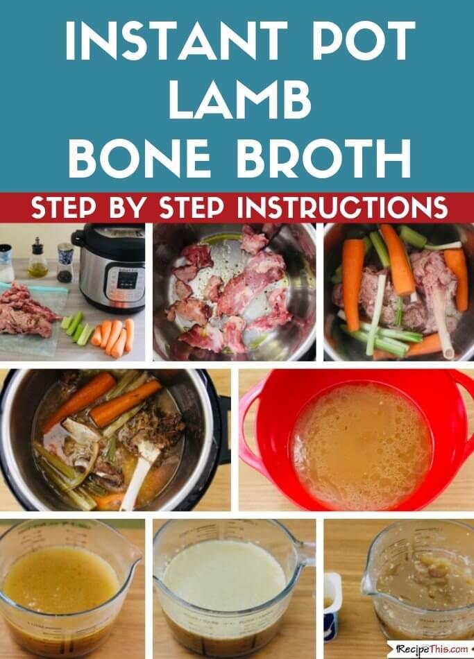 Instant Pot Lamb Bone Broth