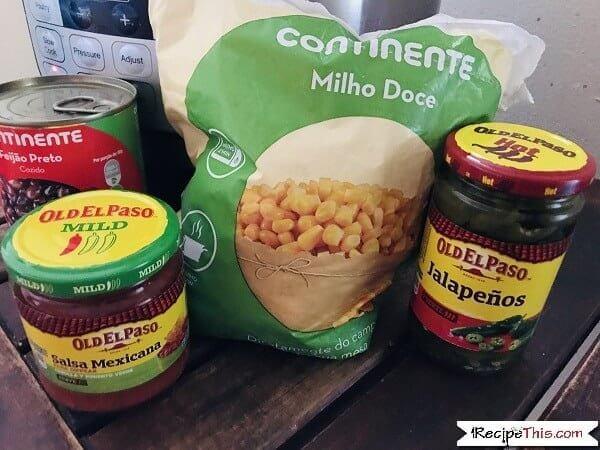 Instant Pot Mexican Quinoa ingredients