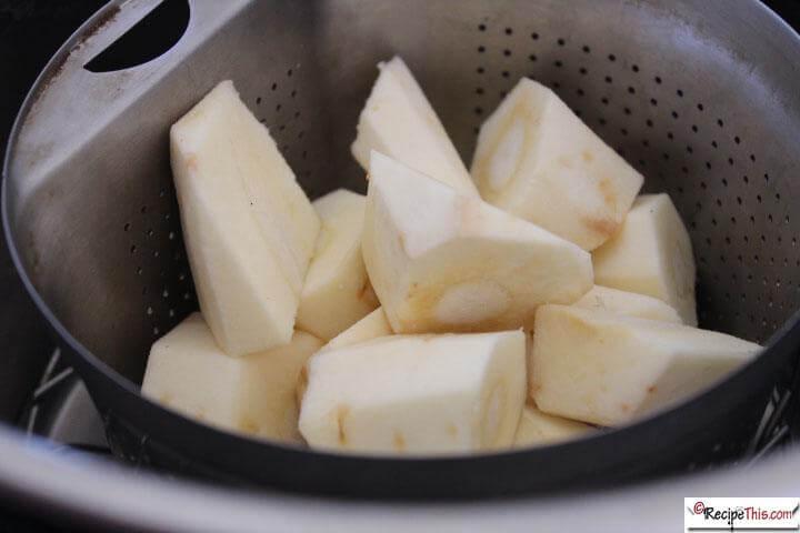 Instant Pot Parsnips steamed in the instant pot pressure cooker