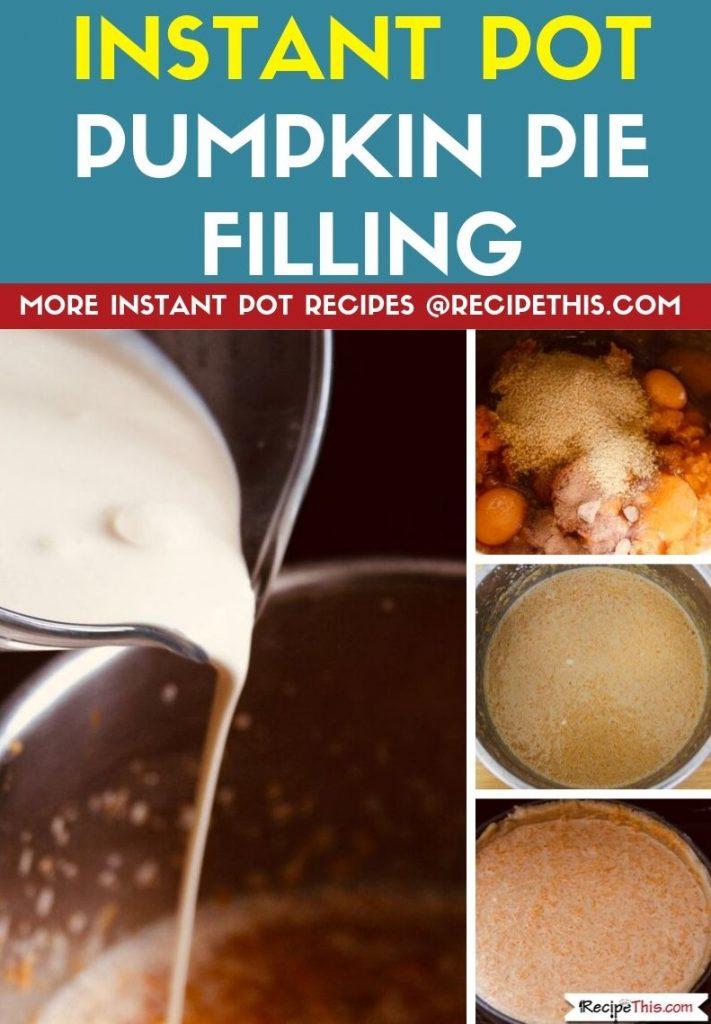 Instant Pot Pumpkin Pie Filling step by step