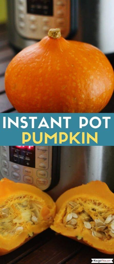 Instant Pot Pumpkin