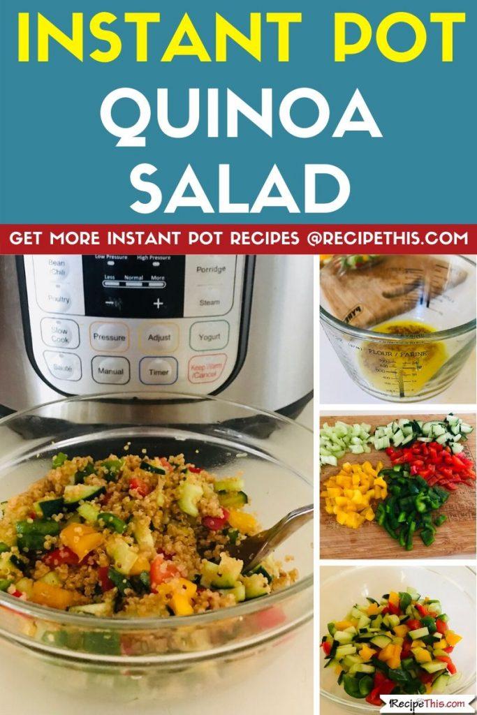 Instant Pot Quinoa Salad step by step