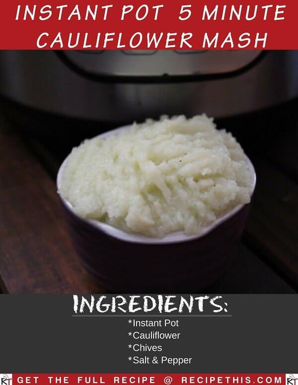 Instant Pot 5 Minute Cauliflower Mash