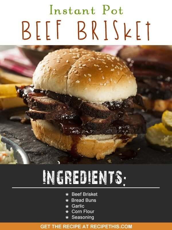Instant Pot Recipes | Instant Pot Beef Brisket Recipe from RecipeThis.com