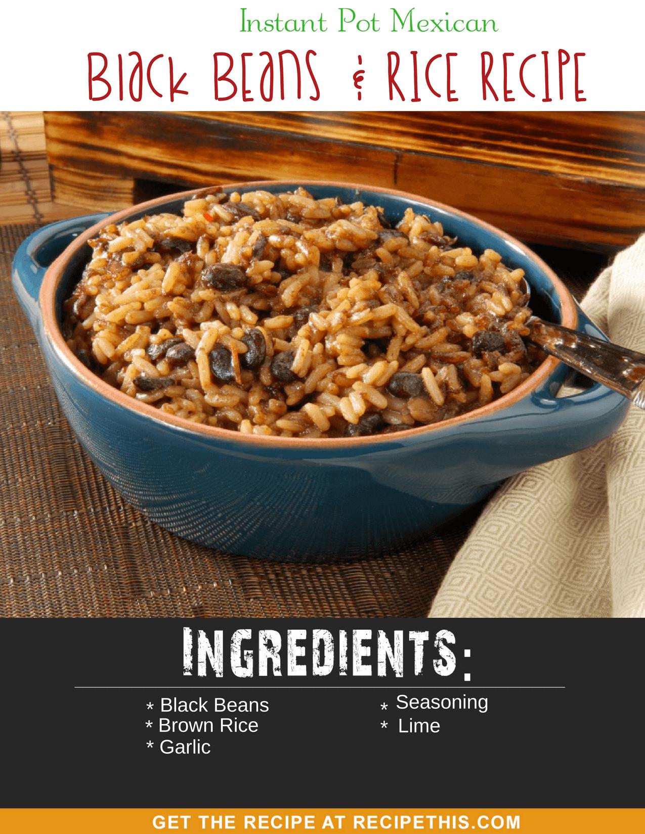 #InstantPot Recipes | Instant Pot Mexican Black Beans & Rice recipe at recipethis.com