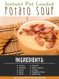 Instant Pot   Instant Pot Loaded Potato Soup recipe from RecipeThis.com