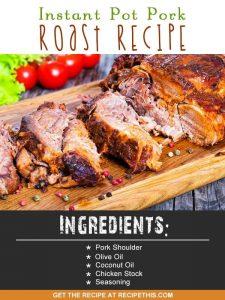 Instant Pot   Instant Pot pork roast recipe from RecipeThis.com