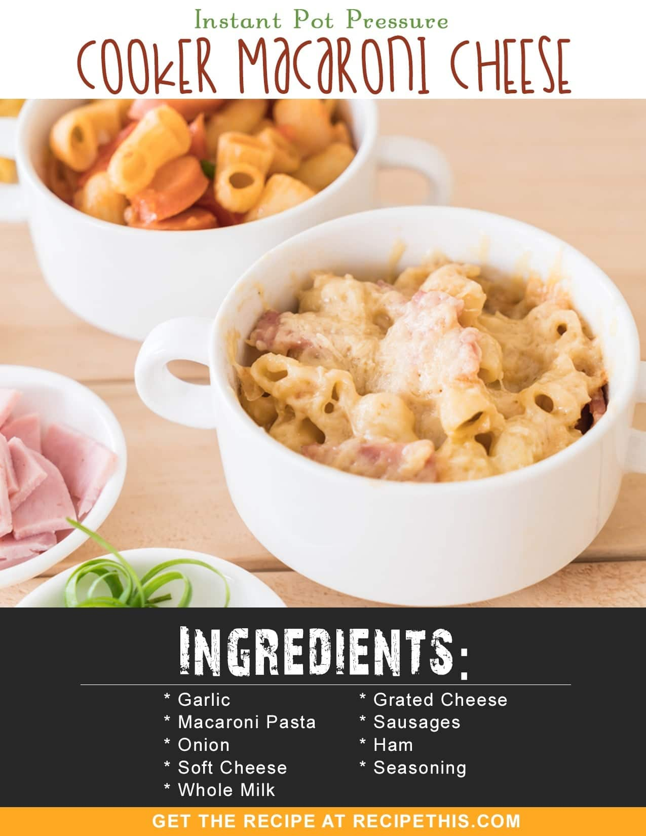 Instant Pot Recipes | Instant Pot Pressure Cooker Macaroni Cheese Recipe From RecipeThis.com