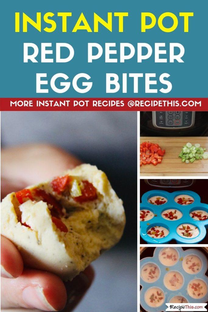 Instant Pot Red Pepper Egg Bites step by step