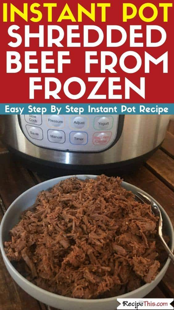 Instant Pot Shredded Beef from frozen
