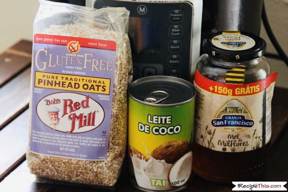 Instant Pot Steel Cut Oatmeal Ingredients