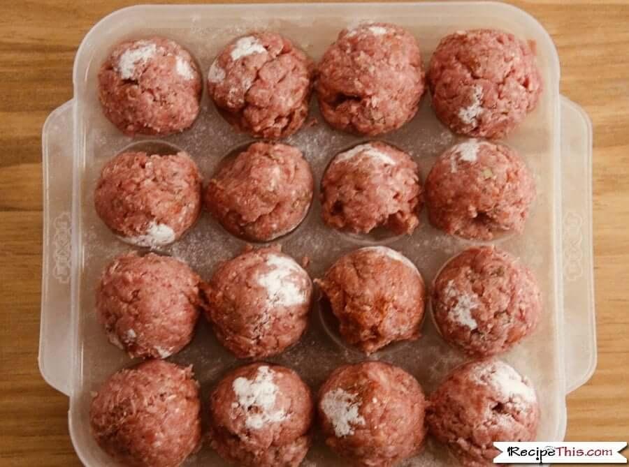 Instant Pot Swedish Meatballs ready to press