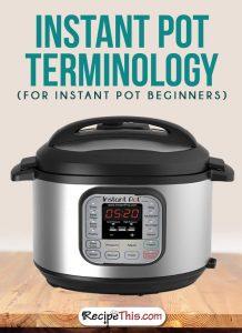 Instant Pot | Instant Pot Terminology