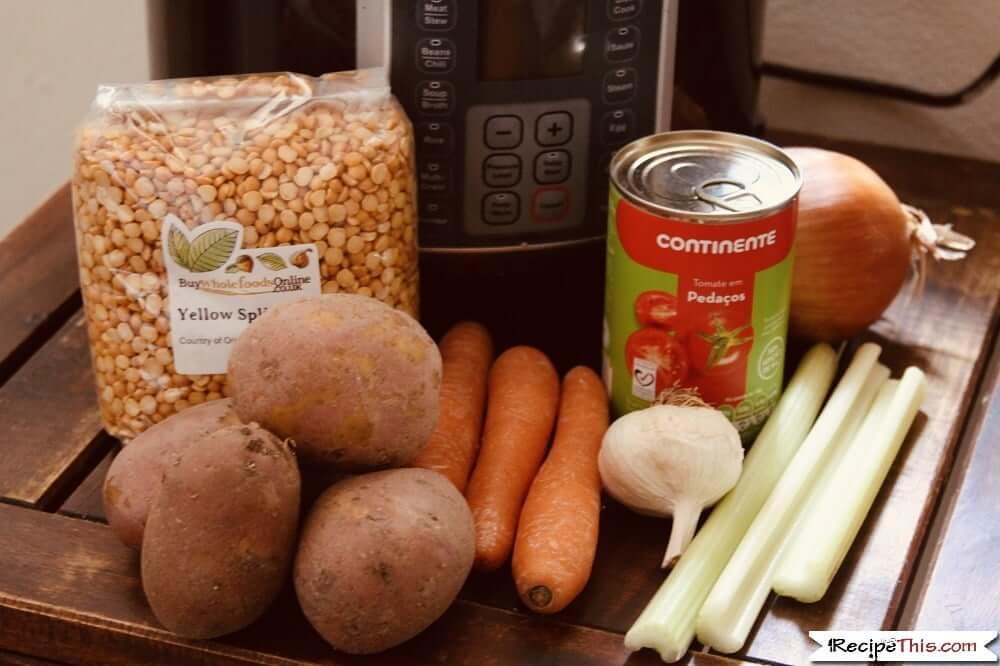 Instant Pot Vegan Split Pea Soup Ingredients