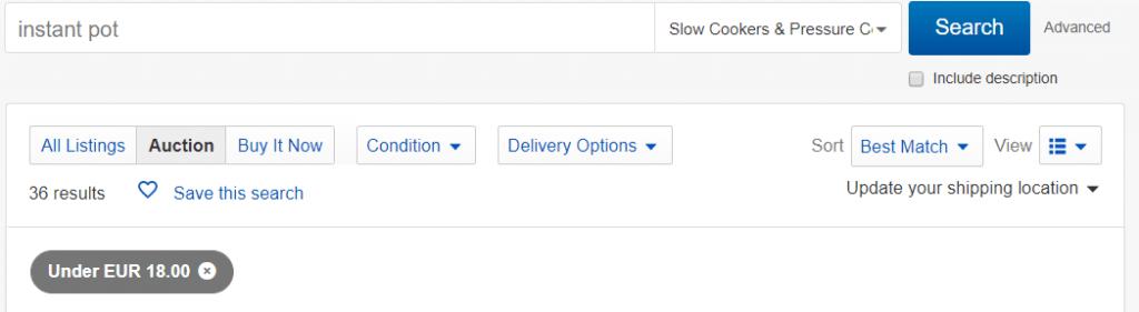 Instant Pot on Ebay - INstant Pot Under 20 dollars
