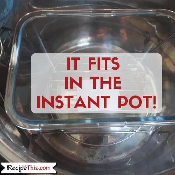 It fits in the instant pot 8 quart