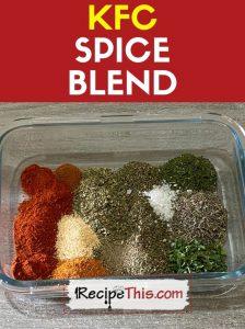 KFC Spice Blend recipe