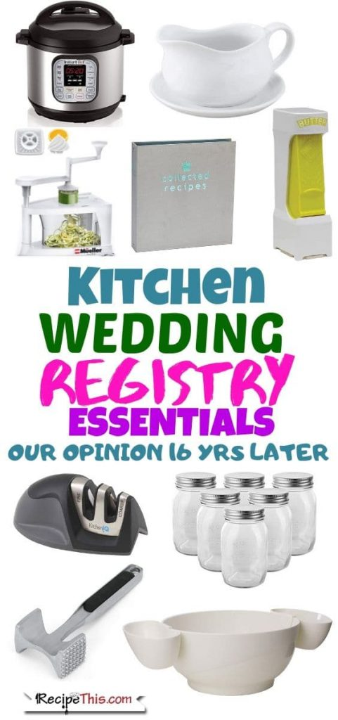 Kitchen Wedding Registry When You Already Live Together