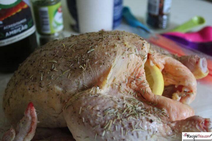 Lemon Rosemary Chicken & Potatoes In The Air Fryer
