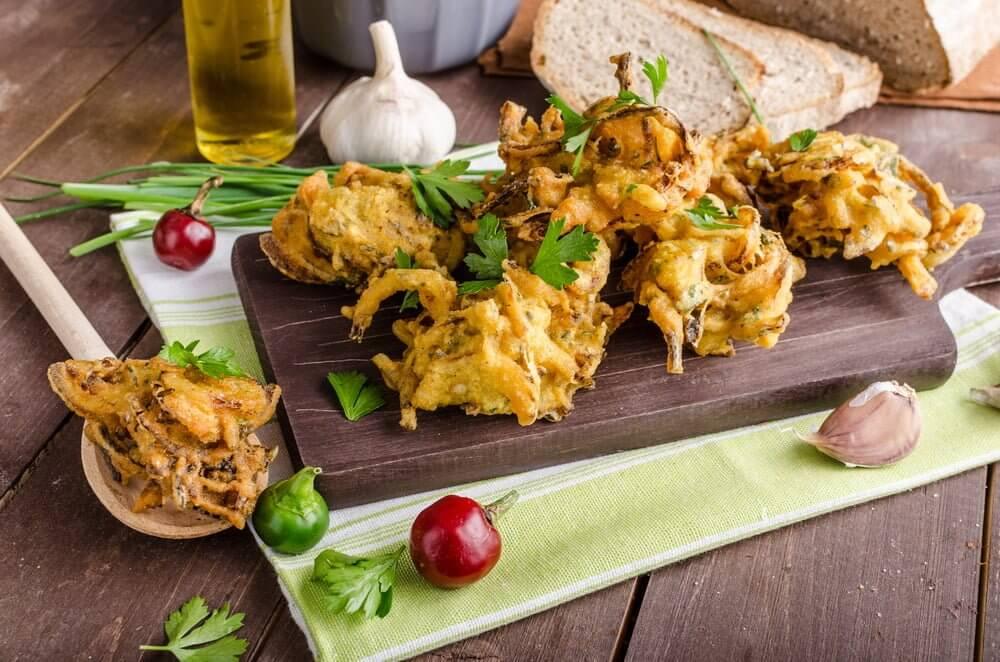Low Calorie Healthy Onion Bhajis
