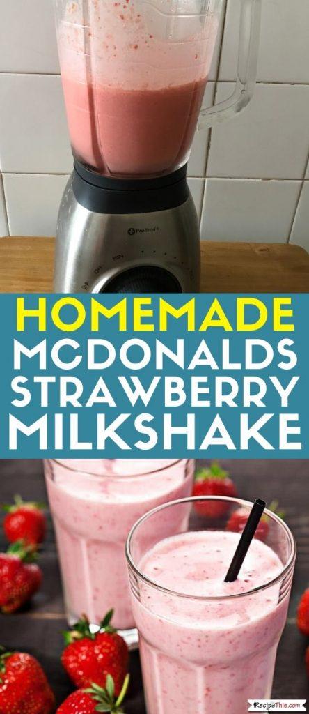 McDonalds Strawbery Milkshake recipe