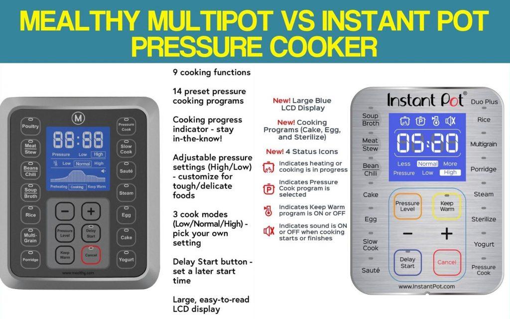 Mealthy Multipot Vs Instant Pot Pressure Cooker