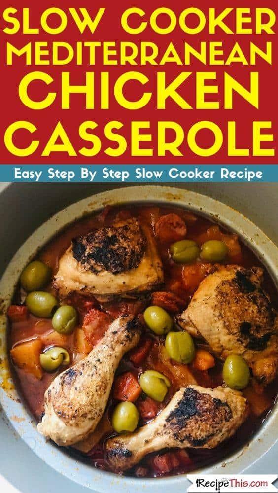 Mediterranean Chicken Casserole In Slow Cooker