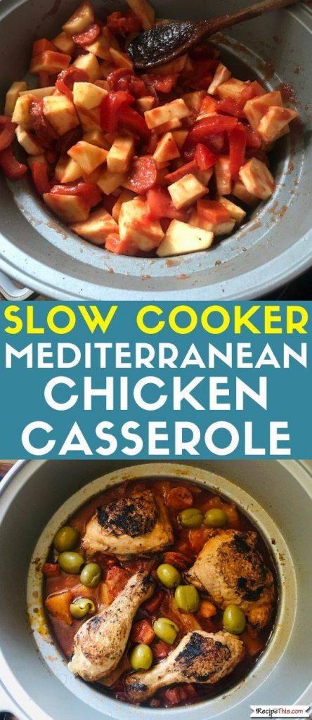 Mediterranean Chicken Casserole In Slow Cooker recipe