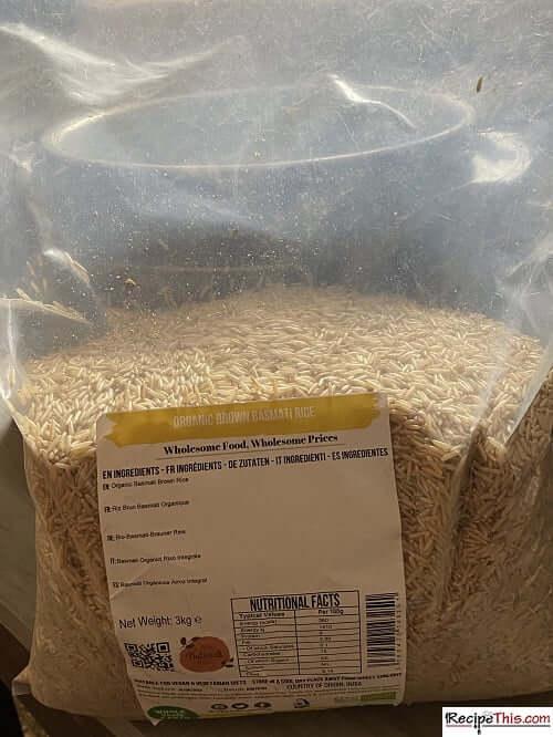Ninja Foodi brown rice bag